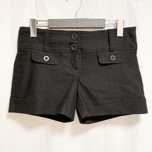Dynamite Button Up Black Shorts Size 5